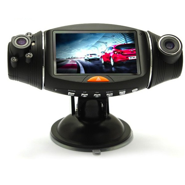 cam ra voiture hd double avec tracker gps mce technologie camera. Black Bedroom Furniture Sets. Home Design Ideas